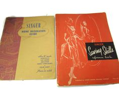 Singer Sewing Skills and Guide Books Vintage by TreasurePicker