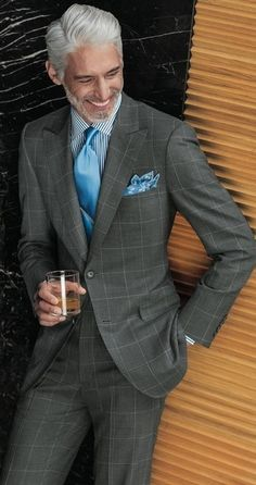 Great looking suit, tie and square.