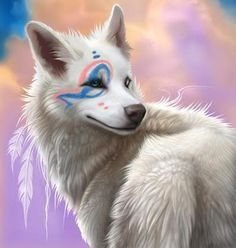 White Wolf Painted