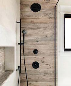 We're always thrilled to get photos submitted by our customers. From in progress shots to complete project rehabs, RDW is happy to play a… Rustic Bathroom Shower, Wood Tile Shower, Wood Wall Tiles, Diy Bathroom, Wood Tile Bathrooms, Bathroom Canvas, Shower Walls, Bathroom Showers, Bathroom Ideas