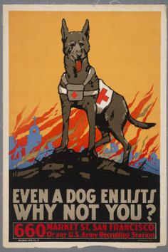 Even a dog enlists, why not you? :: Posters from the First World War, 1914–1918 (Harry Ransom Center | University of Texas at Austin)