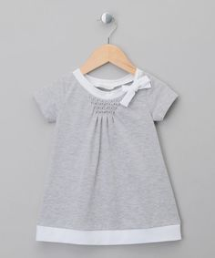 £27 Take a look at this Grey Jersey Bow Dress - Toddler & Girls by Malvi on #zulily today!