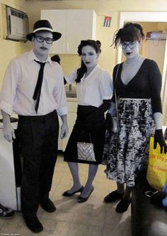 Awesome Black and White Halloween Costumes