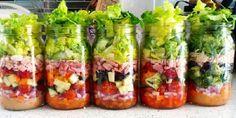 5 Receitas de Saladas no Pote para Fazer e Vender: não há quem resista a essa opção de refeição deliciosa e super saudável. Faça e confira o resultado! Vej
