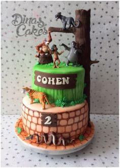 Jungle Book cake Kristins Peace of Cake Pinterest Book cakes
