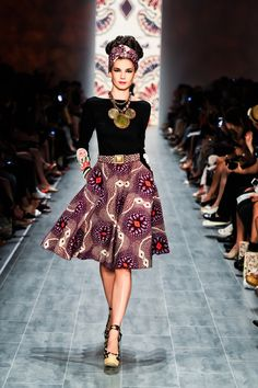 : Lena Hoschek New Collection ** Spring Summer 2015 . - Women's style: Patterns of sustainability African Shirt Dress, African Print Skirt, African Print Fashion, Africa Fashion, Ethnic Fashion, Colorful Fashion, African Prints, Men's Fashion, African Dresses For Women