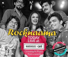 Give your Month a #Rocking Start with sum #ROCKNAAMA Music!  December will be a Rocking Month! Get off to a #super #duper rocking start with some fab Music with Rocknaama today at the Warehouse CAFE #delhi ... Fab times start 9 PM onwards !  Book Rocknaama for gigs / events @ www.localturnon.com/bookings  #turnOn #music || #turn #On #happiness || turnON #life !