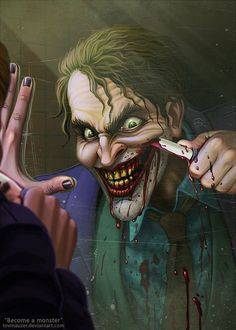 by TovMauzer Here Are 15 of the Creepiest and Most Badass Pieces of Joker Fan Art | moviepilot.com