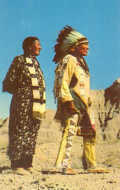 Sioux Indian Chief and woman