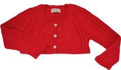 Chaqueta de niña roja  Es para entretiempo  Perfecta para vestido   Gran calidad  Tallas 12-18-24-36 Meses