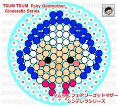 Godmother Tsum Tsum Cinderella perler bead pattern