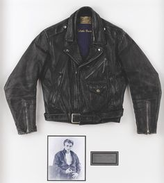 This is the leather jacket given to Dean as a gift from his friend Bill Hickman. He was 2 min behind Dean. He actually held Dean in his arms as he died.