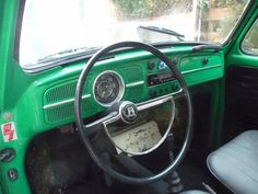 Steel dashboard Aircooled VW Beatle 1968 before restoration