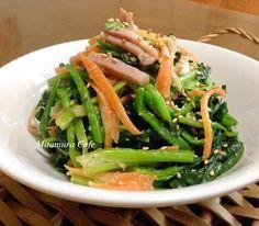 和風芝蔴菠菜食譜、作法 | 蜜塔木拉的多多開伙食譜分享