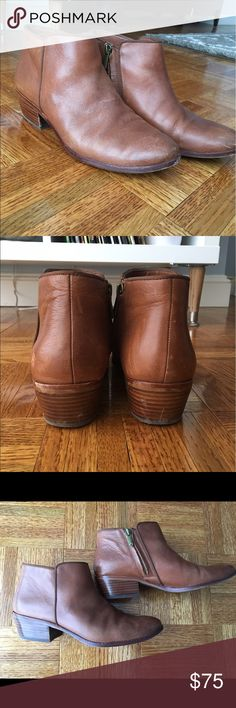 💰FRIYAY SALE💰Sam Edelman 'Petty' Chelsea Boot Sleek profile and low stacked heel. Minor wear and tear as shown. Sam Edelman Shoes Ankle Boots & Booties