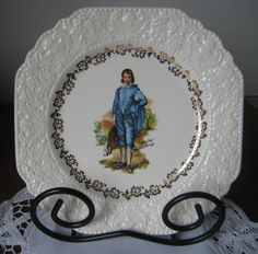 Blue Boy plate vintage plate ceramic plate by DesignsByWillowcreek Vintage Plates, Vintage Items, Ceramic Plates, Decorative Plates, Color Harmony, Blue Plates, Vintage Home Decor, Snow Globes, Etsy Seller