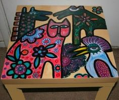 L Burch Inspired Table #painted #furniture
