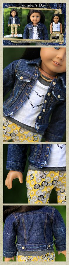 The first Liberty Jane 2012 Spring Line Outfit. Lovin' the denim jacket, layered tanks, and cute yellow and grey capris!  #GUESSWHATIMADE
