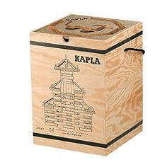 Kapla 9000200 Holzkiste 1000-teilig Original Holz Bausteine Plättchen Klötze: Amazon.de: Spielzeug