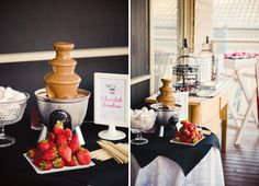 masquerade-chic-birthday-party-chocolate-fountain