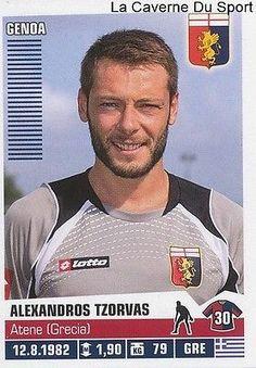 154 Alexandros Tzorvas Greece Genoa.cfc Sticker Calciatori 2013 Panini Genoa Cfc, Football, Slovenia, Baseball Cards, Greece, Sticker, People, Red, America's Cup