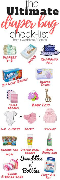 Wondering what to pack in your diaper bag? Heres the ultimate packing list! Save for later or read now!