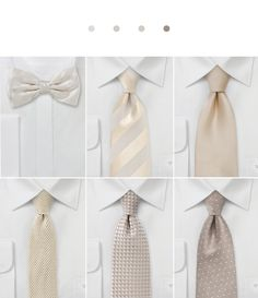 Wedding Ties + Neckties in Nude