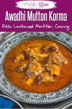Mutton Korma is one of the best mutton recipes to try. It is cherished as an authentic Lucknowi/Awadhi dish which is rich and full of flavours. Not to mention that it was loved by Mughal rulers as well. So, make it for a family feast and have a good time Indian Mutton Recipes, Indian Chicken Recipes, Veg Recipes, Curry Recipes, Indian Food Recipes, Cooking Recipes, Mutton Recipes Pakistani, Easy Recipes, Dinner Recipes