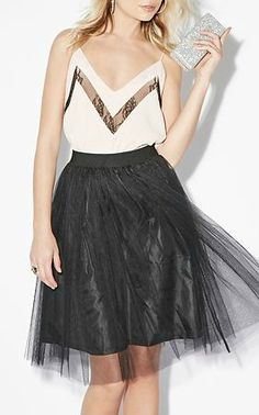 tulle skirt and sparkle clutch