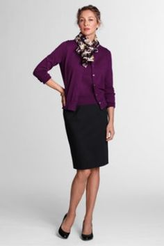 Women's Ponté Pencil Skirt from Lands' End.   Don't care for the matching twinset.