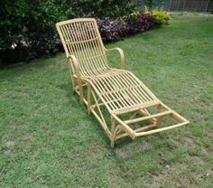 Vintage Split Cane Sun Lounge Deck Chair Day Bed Chaise Seat Chai | Other Home Decor | Gumtree Australia Caboolture Area - Deception Bay | 1136586717