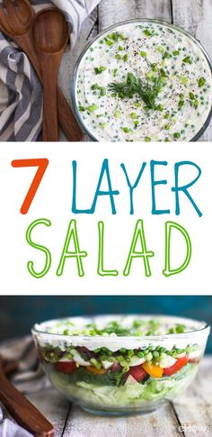 Take this fun spin on your favorite dip and transform it into a delicious, healthy salad! Some ingredients include tomatoes, bacon, peas, green onions and boiled eggs, but you can really get creative! Recipe here: http://www.ehow.com/how_2305386_make-seven-layer-salad.html?utm_source=pinterest.com&utm_medium=referral&utm_content=freestyle&utm_campaign=fanpage
