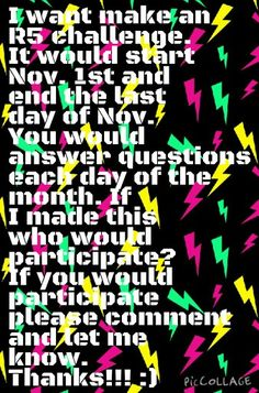 Anyone who wants to join please let me know!! The challenge starts Nov. 1st! :)