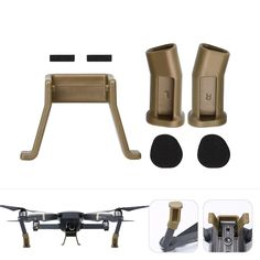 >> Click to Buy << DJI Mavic Pro Landing Gear Height Extender Kit Riser Set Stabilizers Legs Holder with Protection Pad Camera Accessories Gold #Affiliate
