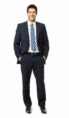 Imagen libre de derechos: Handsome Young Businessman Portrait Isolated
