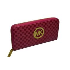 Michael Kors Embossed Leather Large Pink Wallets