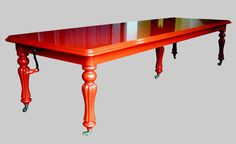 POST BOX RED DINING TABLE. This may be purchased on ecofirstart.com