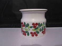 Arabia Finland 1960s Lingonberry Jam Pot