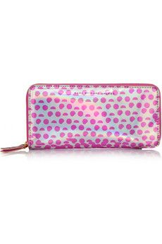 Marc by Marc Jacobs Slim Zippy faux patent-leather wallet | NET-A-PORTER