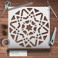 Geometric Mandala Stencil by StencilsLabNY on Etsy