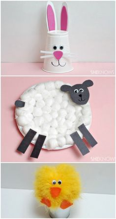 Animal-themed Easter crafts for kids | #easter #animals #diy