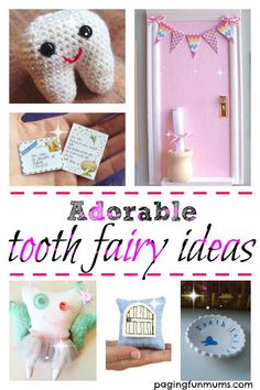 Adorable Tooth Fairy ideas! Gorgeous trinkets to make the Tooth Fairy visit extra special!