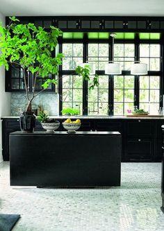 Black kitchen!
