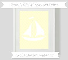 Cream Moroccan Tile  Sailboat 8x10 Art Print
