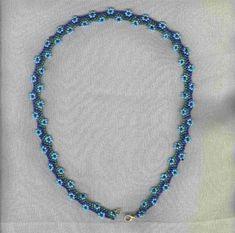 Ожерелье с незабудками | biser.info - всё о бисере и бисерном творчестве