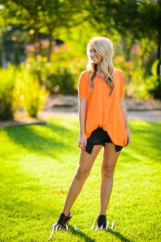 Orange Piko Top · jaxx + hill · Online Store Powered by Storenvy
