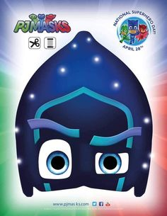 PJ Masks Party Printables Night Ninja Mask for FREE via Mandy's Party Printables