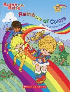 Rainbow Brite sticker story book