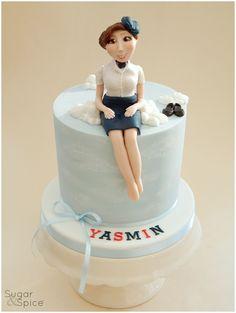 Air Hostess cake by Sugar & Spice Gourmandise Gifts https://www.facebook.com/SugarandSpiceGourmandise
