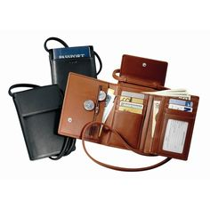 TRAVEL NECESSITY - ANOTHER GREAT OPTION IN TRAVEL WALLETS - Royce Deluxe Leather Passport Case with Removable Neck/Shoulder Strap 220-5-BLK | Luggage Pros